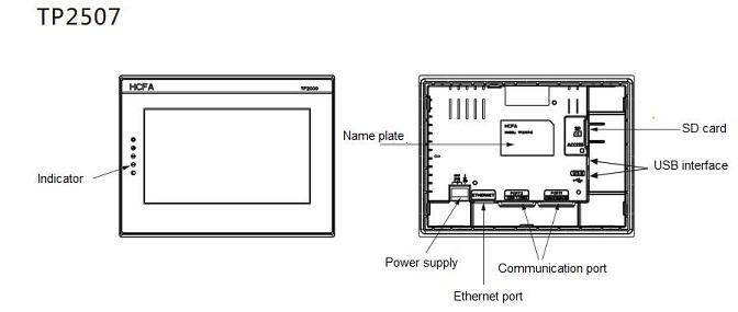 tp2507 series human machine interface - hmi